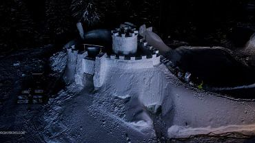 Śnieżny zamek w Zakopanem pod Wielką Krokwią ponownie otwarty dla turystów