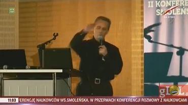 Prof. Ciszewski o dźwięku tupolewa uderzającego w brzozę