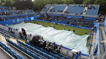 Mecze 1. rundy turnieju WTA w Birmingham były przerywane z powodu opadów deszczu