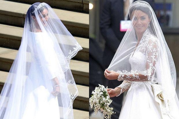 Suknie ślubne Meghan i Kate
