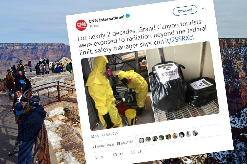Turyści, którzy odwiedzali muzeum w Wielkim Kanione, przez 20 lat mogli być narażeni na promieniowanie uranu