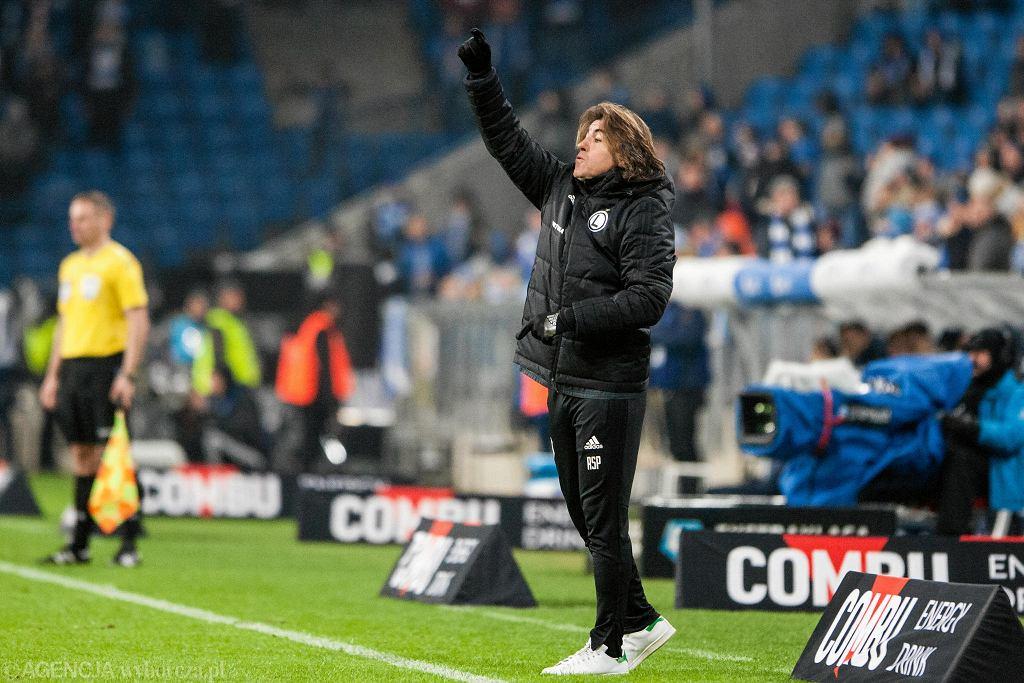 Lech - Legia 2:0. Trener Ricardo Sa Pinto