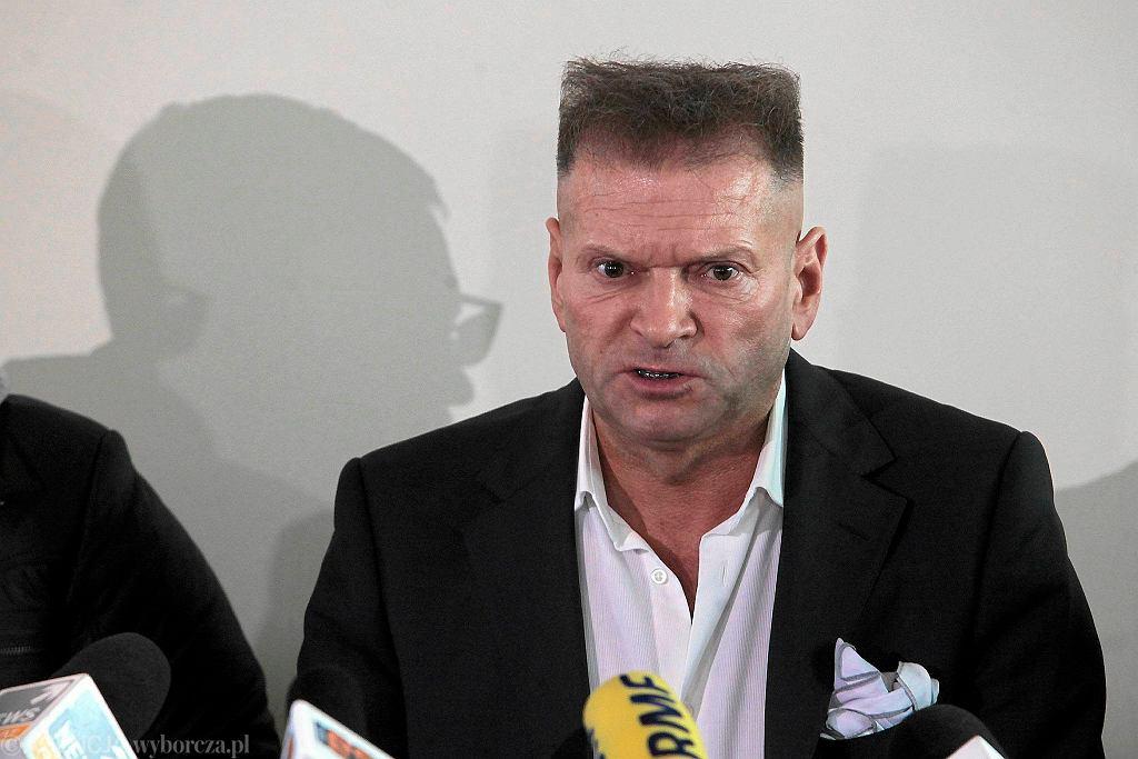 Krzysztof Rutkowski na konferencji ws. zaginięcia Ewy Tylman, 26 listopada 2015, Poznań