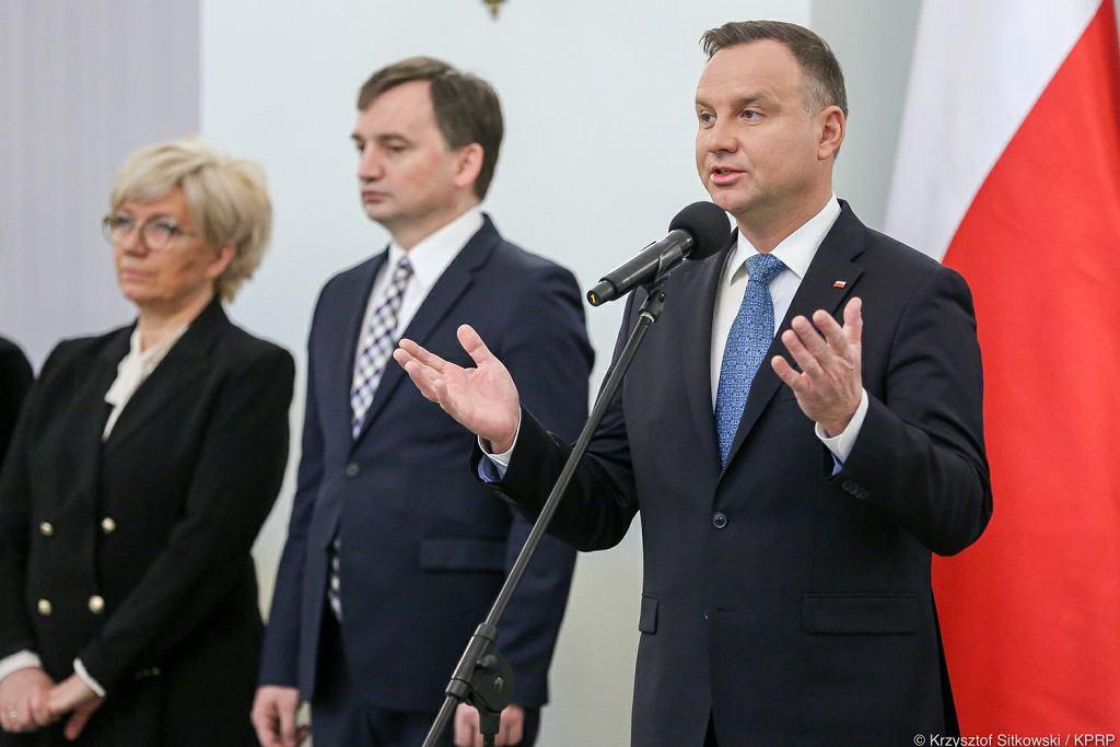 Andrzej Duda powołał prezesów dwóch izb w Sądzie Najwyższym