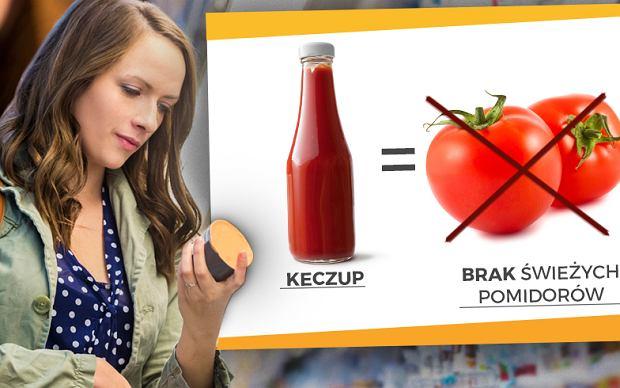 Ile ziemniaków jest w paczce chipsów, a ile pomidorów w butelce keczupu? Można się zdziwić