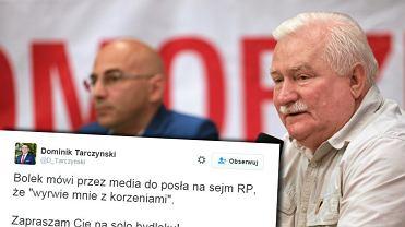 Dominik Tarczyński odpowiada na słowa Lecha Wałęsy