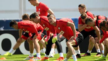 Trening reprezentacji w La Baule przed meczem Polska - Portugalia