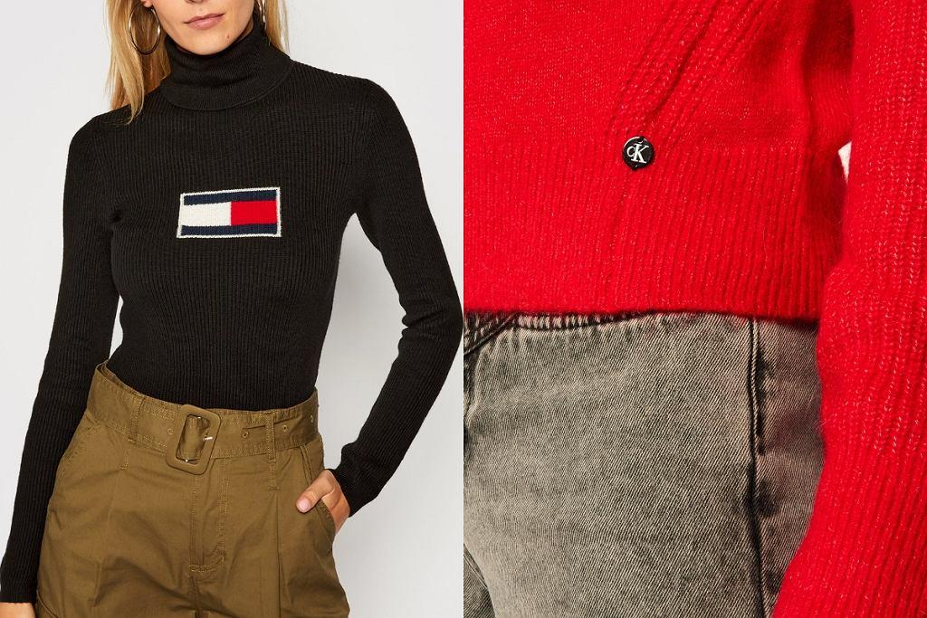 Ciepłe swetry z wyprzedaży