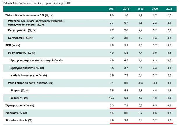 Raport o projekcji inflacji 2019