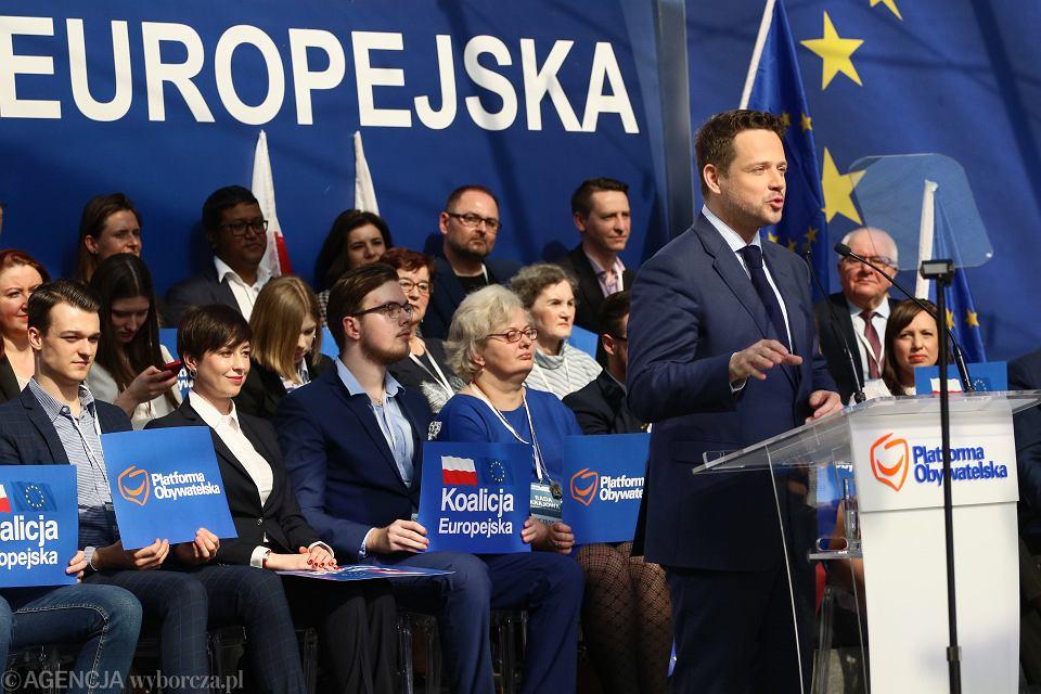 23.03.2019, Warszawa, Rada Krajowa Platformy Obywatelskiej, przemawia Rafał Trzaskowski