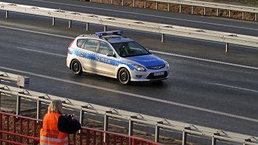 Policja na autostradzie A4