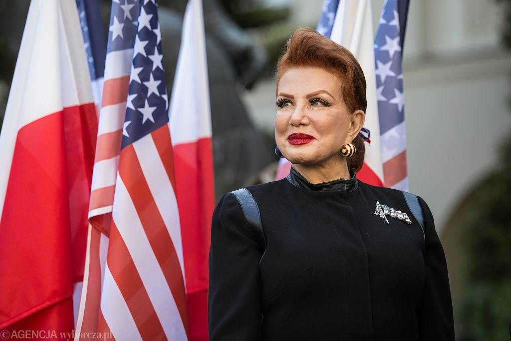 Ambasador USA w Polsce Georgette Mosbacher podczas wizyty na Katolickim Uniwersytecie Lubelskim w ramach Kongresu Polsko-Amerykańskiego '100 lat wspólnego dziedzictwa'. Lublin, 11 października 2018