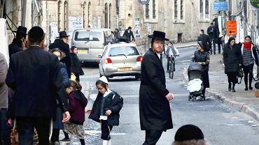 Scena uliczna w Jerozolimie.