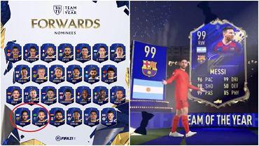 Messi i Neymar nie zostali uwzględnieni w 'Drużynie Roku' w grze FIFA 21