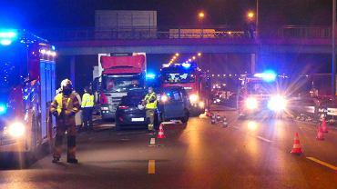Wypadek na autostradzie A1. Straż pożarna. Zdj. ilustracyjne