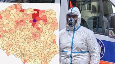 """Rośnie liczba zakażeń. Na mapę Polski powracają """"czarne strefy"""", gdzie mógłby być lockdown"""