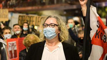 Marta Lempart we Wrocławiu 26 października 2020 r. W proteście przeciwko zakazowi aborcji na ulice wyszło 70 tysięcy osób