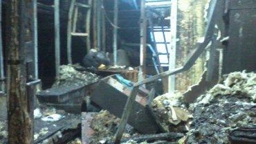 Wnętrze domu po pożarze