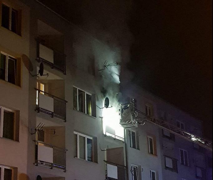 Pożar przy ulicy Krakowskiej w Sosnowcu