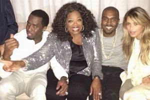 Oprah Winfrey, Kanye West, Kim Kardashian, Diddy