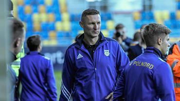 Trener Arki Gdynia Grzegorz Niciński