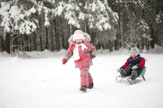 Sanki to jedna z zimowych ulubionych aktywności dzieci.