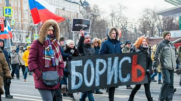 Rosja, Moskwa - protesty 25.02.2018 r.