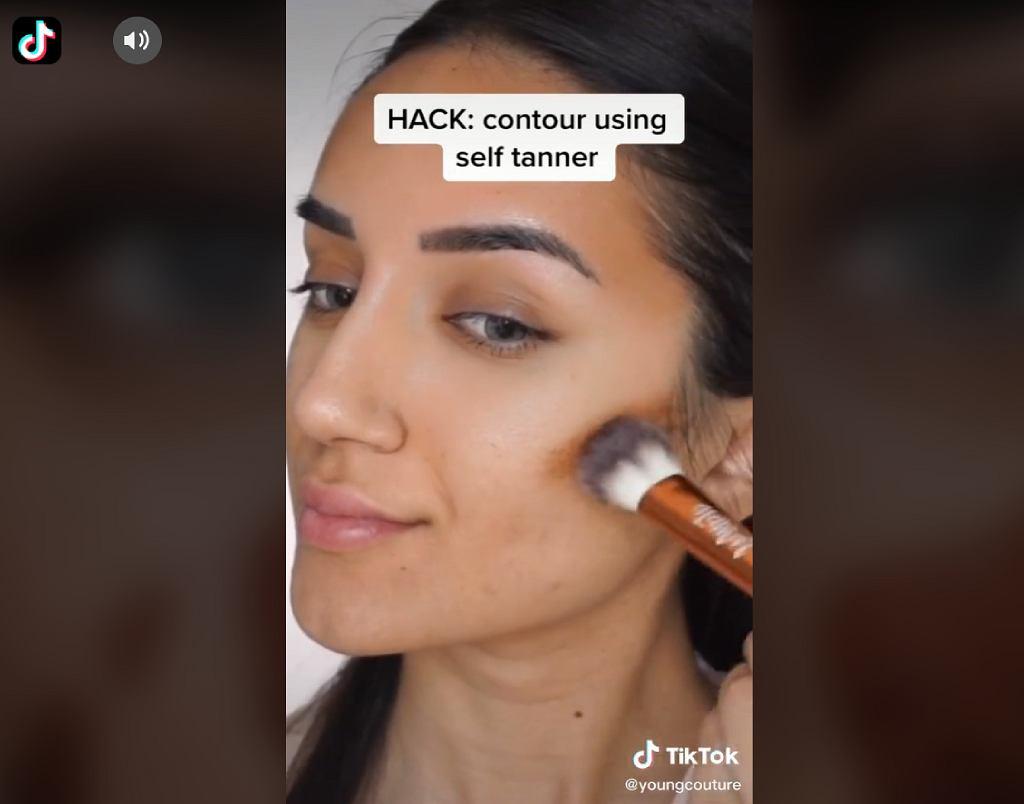 konturowanie twarzy TikTok