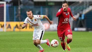 Piast Gliwice - Jagiellonia Białystok (0:1). Martin Bukata