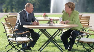 Spotkanie Władimira Putina z Angelą Merkel w Niemczech