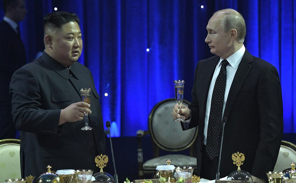 Władimir Putin i Kim Dzong Un w kwietniu 2019 roku