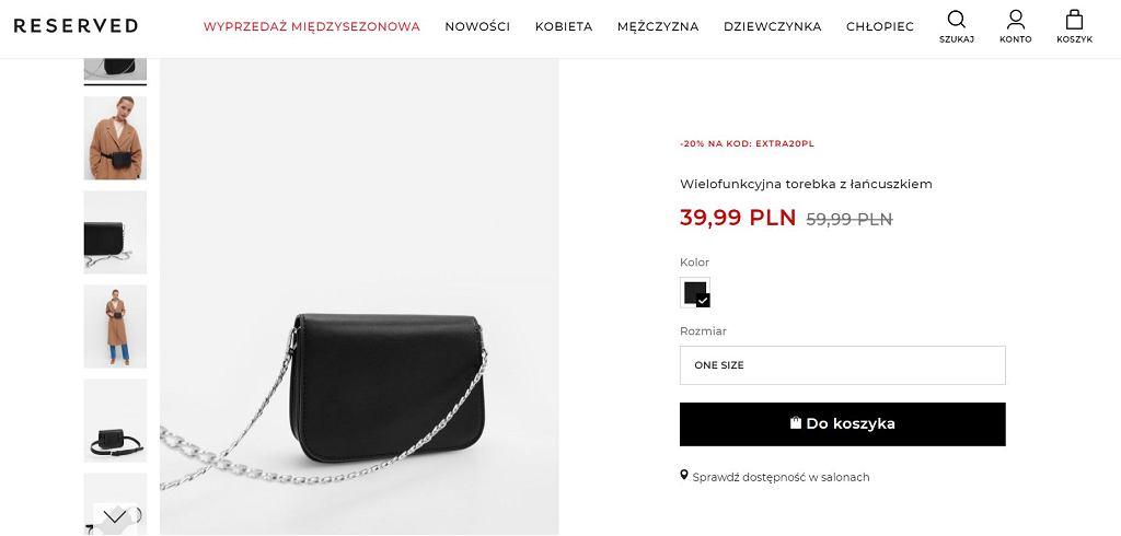 Reserved wyprzedaje modną torebkę. To jeden z największych hitów w sieci. Kupicie ją za jedyne 40 zł