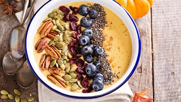 Smoothie bowl dyniowe