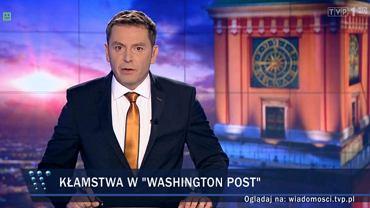 """Kadr z wydania """"Wiadomości"""" 21 września"""