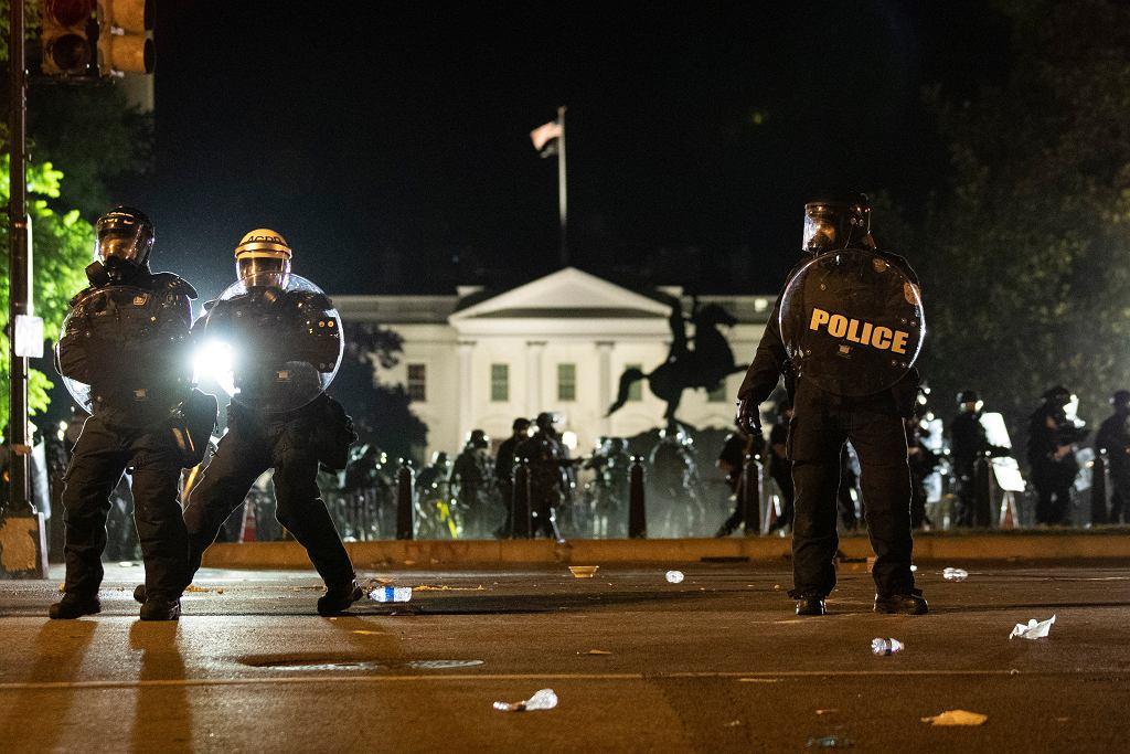 USA. Protest przeciwko przemocy i rasizmowi w policji po zabiciu Afroamerykanina George'a Floyda