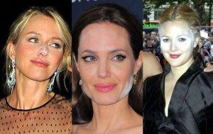 Angelina Jolie, Naomi Watts, Drew Barrymore