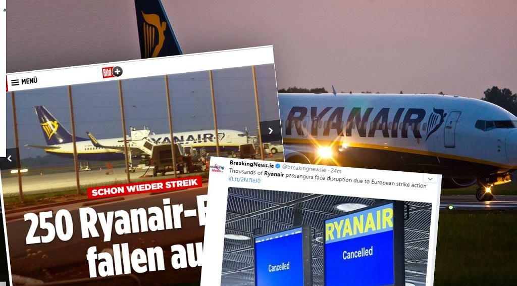 Ryanair odwołał 250 lotów
