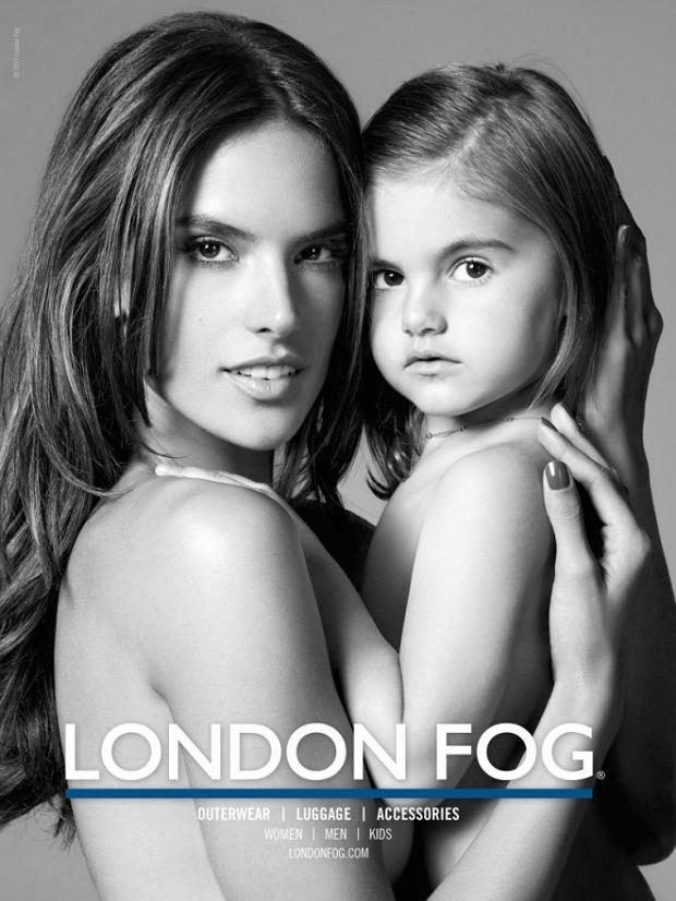 Alessandra Ambrosio z córką dla London Fog