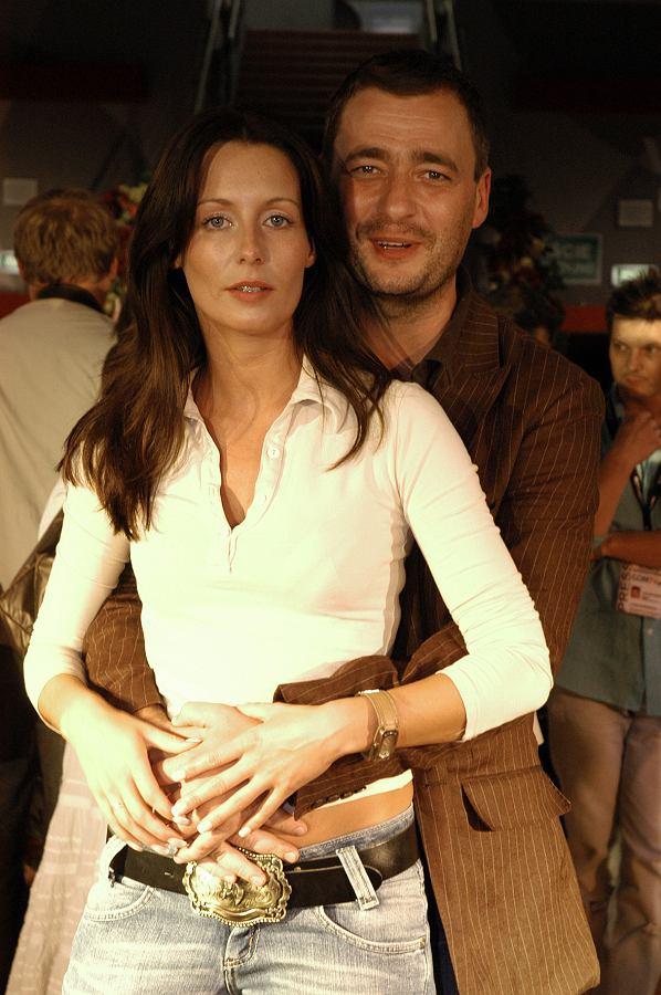Małgorzata Rozenek z byłym mężem Jackiem Rozenkiem - 2005 rok