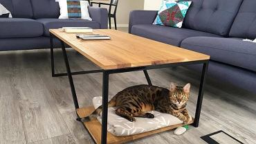 Stolik kawowy z surowego drewna mango 90x55x39 cm