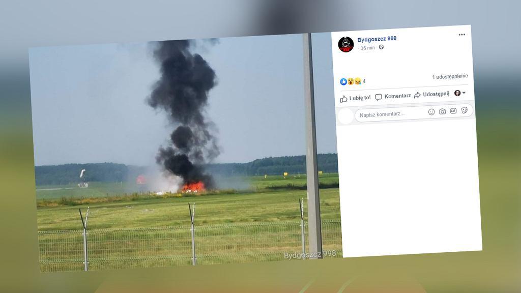 Bydgoszcz. Na lotnisku rozbiła się awionetka. Dwie osoby nie żyją