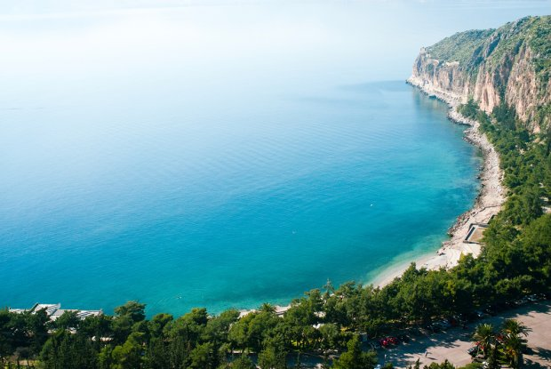Widok na morze Egejskie w okolicach Nafplio