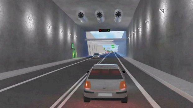 Wizualizacja tunelu pod Świną