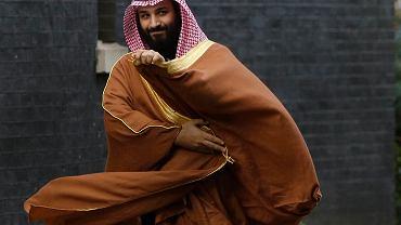 Książę koronny Arabii Saudyjskiej Mohammad bin Salman. Fotografia zrobiona podczas oficjalnej wizyty na Downing Street 10. Londyn, 7 marca 2018