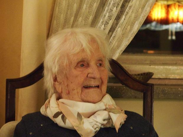 Irena Becker w dniu setnych urodzin