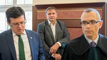 Od lewej: Krystian Markiewicz , Sędzia Waldemar Żurek podczas rozprawy dyscyplinarnej Waldemara Żurka