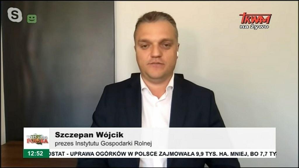 Szczepan Wójcik, potentat na rynku hodowli norek, w programie 'Wieś to także Polska' w telewizji Trwam. 16 sierpnia 2020 r.