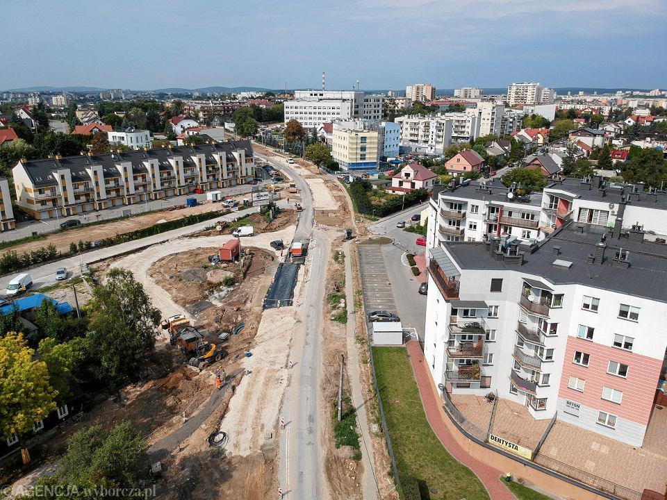 Kielce, 9 września 2019 roku. Remont ulicy Wojska Polskiego