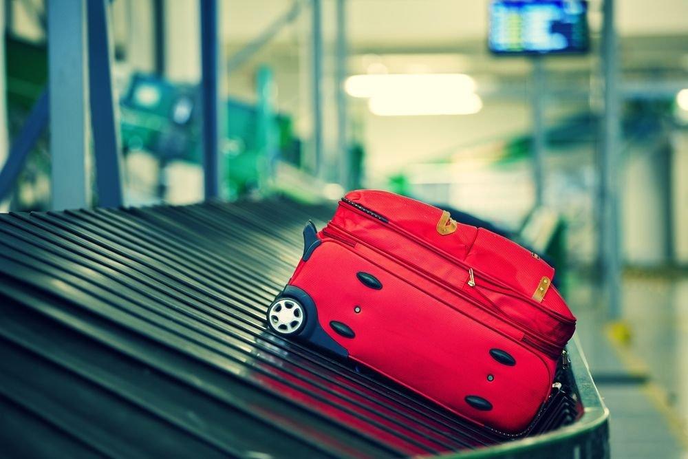 Bagaż na taśmie na lotnisku
