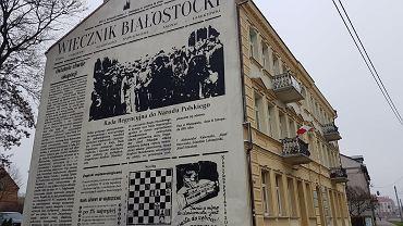 'Wiecznik Białostocki'. Nowy mural na 100-lecie niepodległości, na elewacji kamienicy przy ul. Ciepłej 1